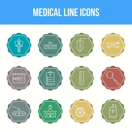 Unique Medical Line icon set