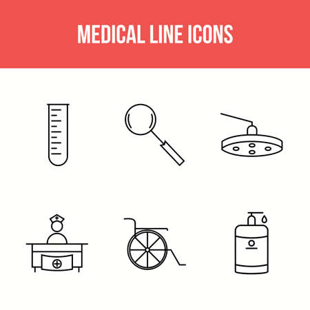 6 Icon Set Of Medical For Personal And Commercial Use. Illusztráció