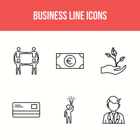 Unique 6 icons for personal and commercial use