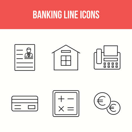 Beautiful Banking and finance vector icon set Illusztráció