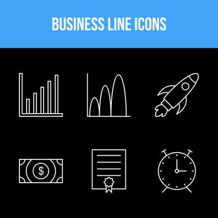 6 Business icons for personal and commercial use