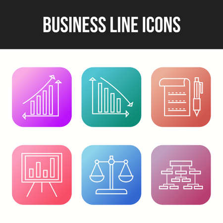 Beautiful 6 icons pack of business vector icons Illusztráció
