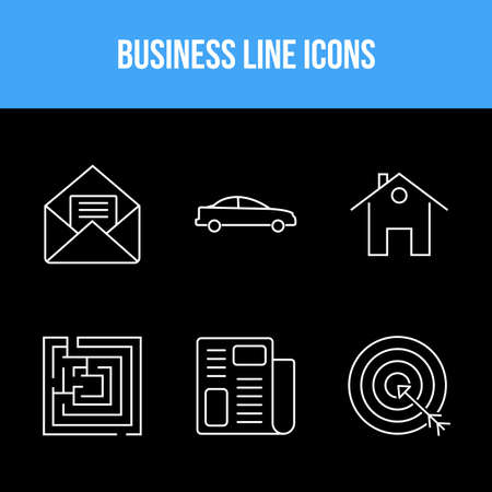 Business icon set for personal and commecal use Illusztráció