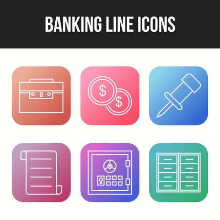 Unique Banking icons for personal and commercial use