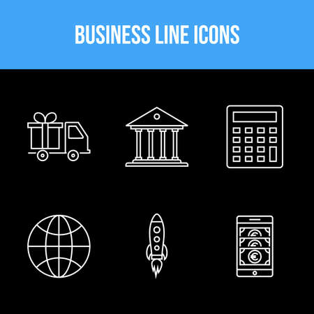 Business vector icons pack for personal and commercial use Illustration