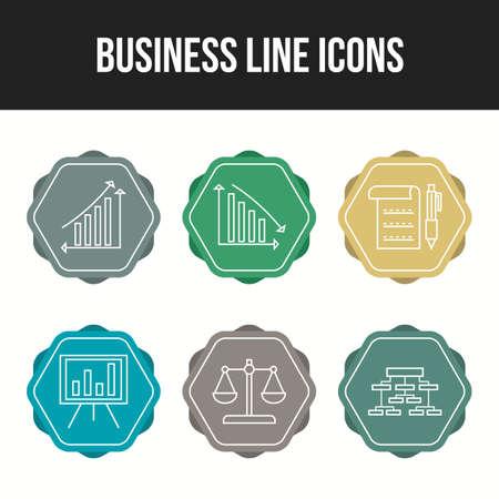 Beautiful 6 icons pack of business vector icons Illusztráció