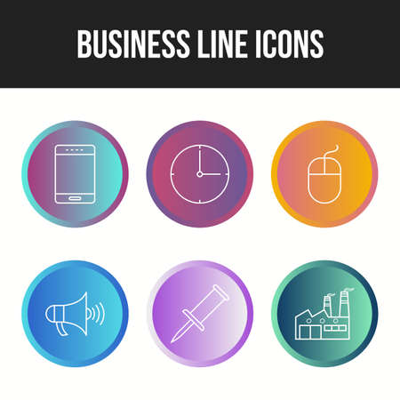 6 Unique vector icons in oe set Ilustração