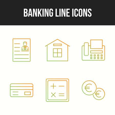 Beautiful Banking and finance vector icon set Ilustração