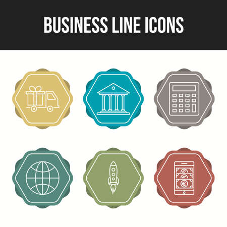 Business vector icons pack for personal and commercial use Ilustração