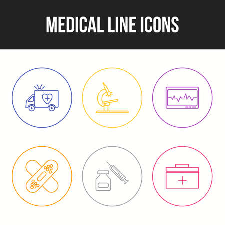 Beautiful Medical vector icon set for commercial use