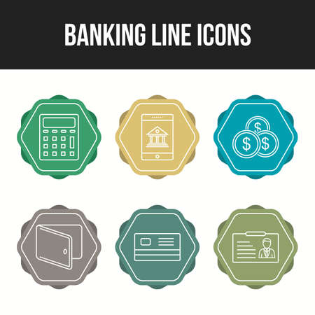 Banking icons for personal and commercial use