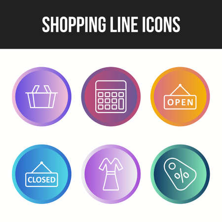Unique icon set of shopping line icons