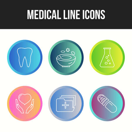 Beautiful 6 icons pack of Medical vector icons