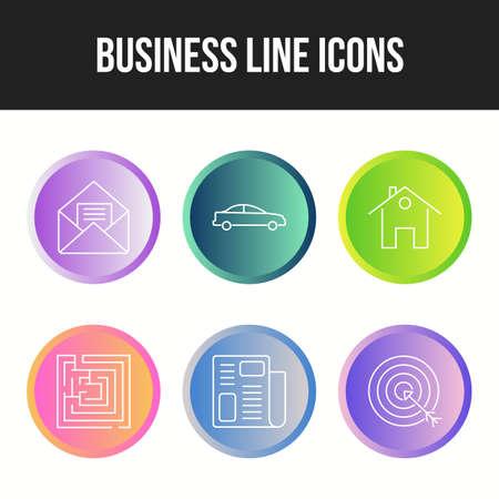Business icon set for personal and commecal use Ilustração