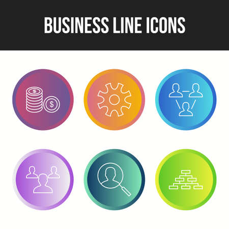 Beautiful 6 icons pack of business vector icons Ilustração