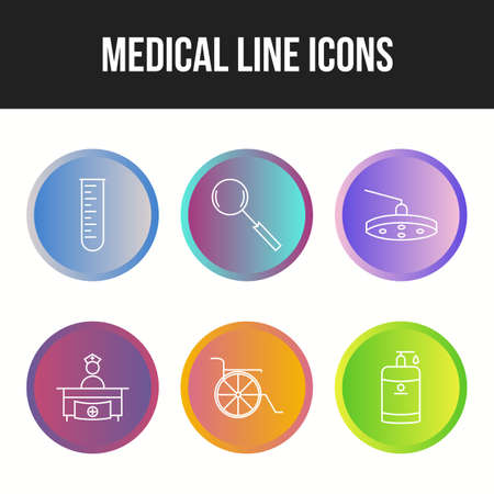 6 Icon Set Of Medical For Personal And Commercial Use. Ilustração