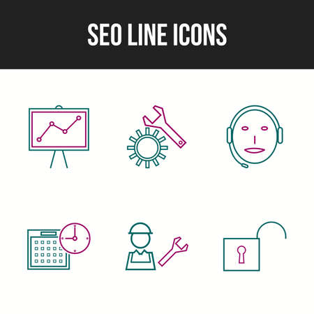 6 Unique vector icons in one set