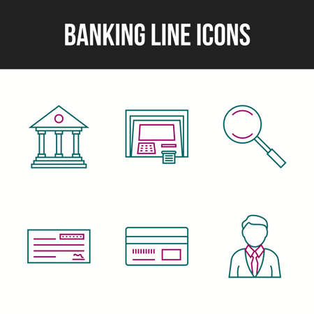 6 Banking icons in one set for personal and commercial use