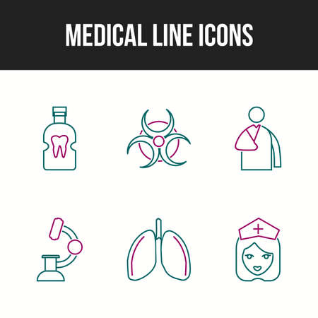 6 Unique Medical vector icons in one set