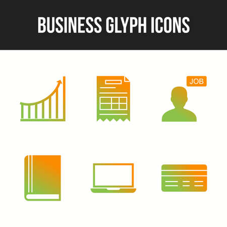 Beautiful 6 icons pack of business vector icons 向量圖像