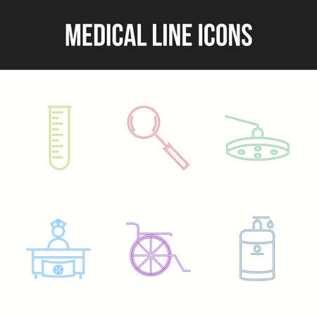 6 Icon Set Of Medical For Personal And Commercial Use.