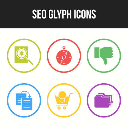 Seo and Business icons for commercial use