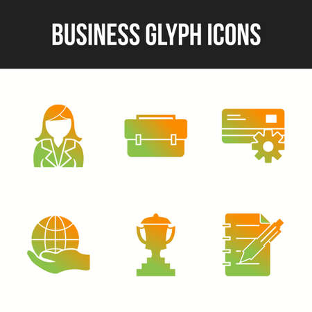 6 Icon Set Of Business For Personal And Commercial Use.