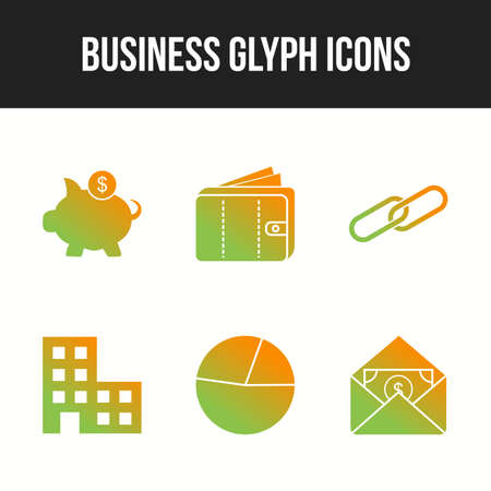 Unique Business vector icon set for commercial use