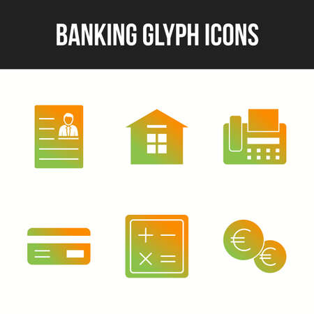 Beautiful Banking and finance vector icon set 向量圖像