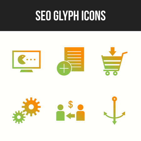 Seo icon set for personal and commercial use