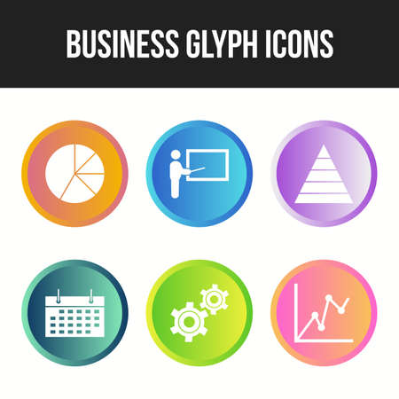 6 Glyph Unique Business vector icon set