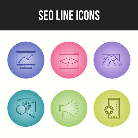 Seo line vector icon for personal and commercial use
