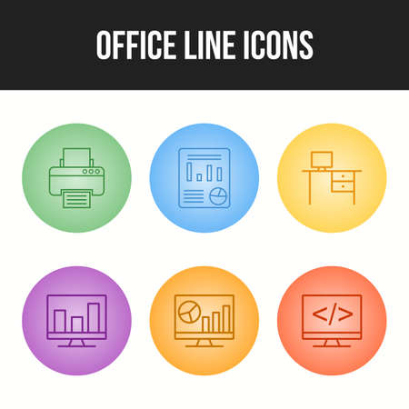 6 Unique vector icons in one set. 向量圖像