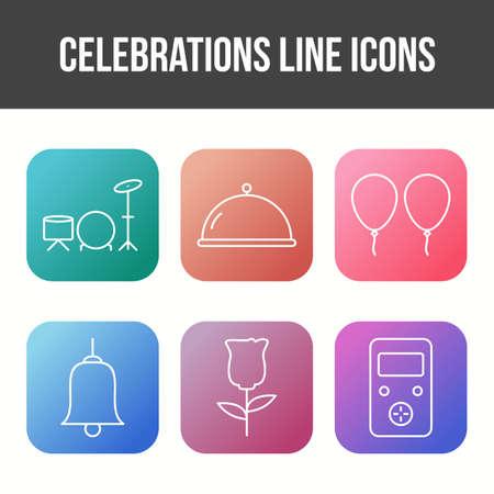 6 Celebration Vector Icon Set