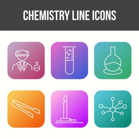 Unique Chemistry Line Vector Icon Set Illustration