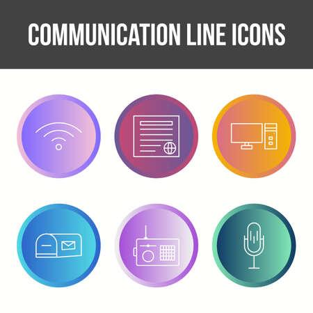 Unique Communication Line Vector Icon Set