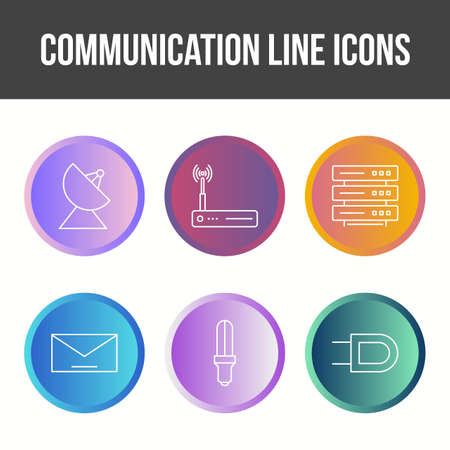 Unique Communication Line Vector Icon Set