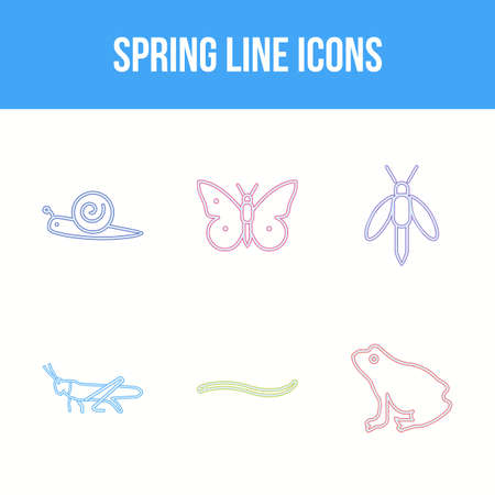 Unique Spring Vector Icon Set