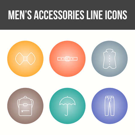Men's Accessories Vector Icon Set 免版税图像 - 157540928