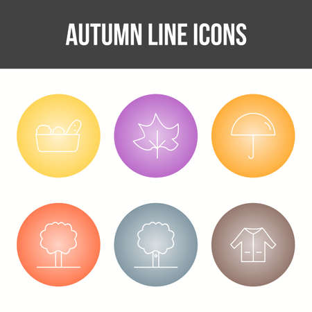 Unique Autumn Vector Icon Set 免版税图像 - 157540930