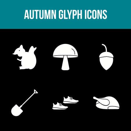 Unique Autumn Vector Icon Set 免版税图像 - 157540933