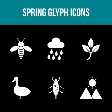 Unique Spring Vector Icon Set 免版税图像 - 157540939