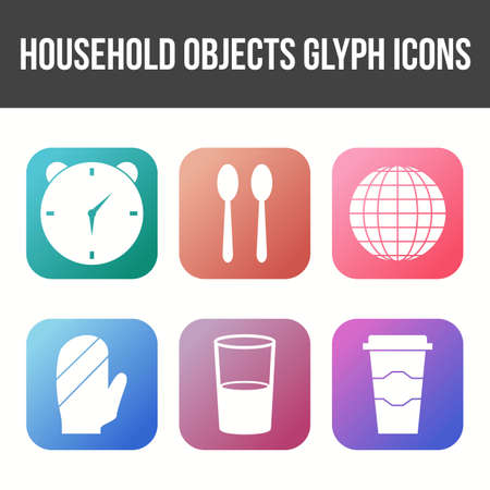 Unique Household Objects Vector Icon Set 免版税图像 - 157540947
