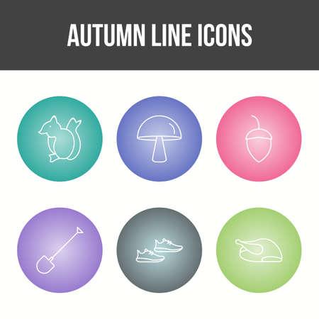 Unique Autumn Vector Icon Set 免版税图像 - 157540953