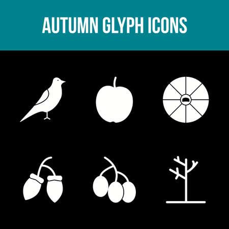 Unique Autumn Vector Icon Set 免版税图像 - 157540957