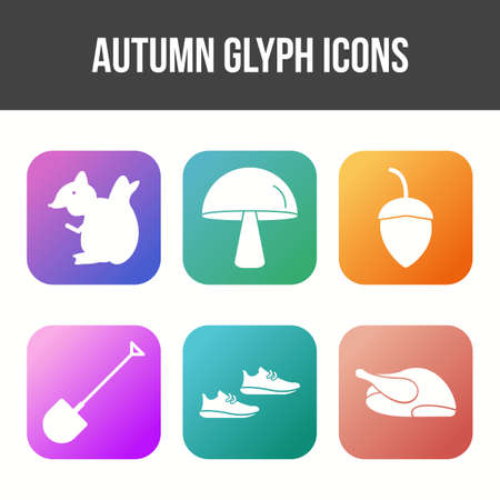 Unique Autumn Vector Icon Set 免版税图像 - 157540904