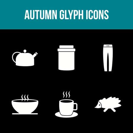 Unique Autumn Vector Icon Set 免版税图像 - 157540910