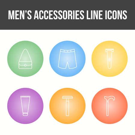 Men's Accessories Vector Icon Set 免版税图像 - 157540914