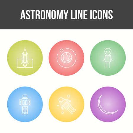 Unique Astronomy Line Vector Icon Set 免版税图像 - 157540915