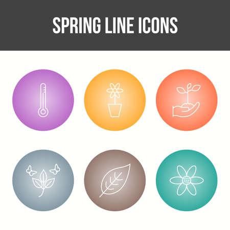 Unique Spring Vector Icon Set